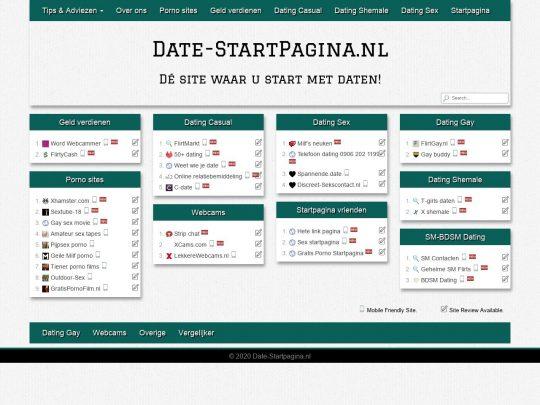 Date startpagina